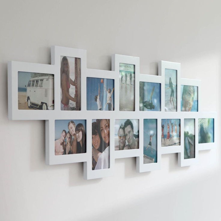 Authentics & Invotis Orange Authentics Studio 14 Picture Multi Frame, White