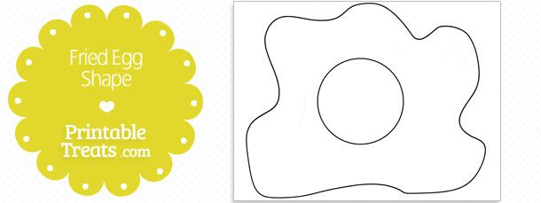 printable fried egg shape template school ideas