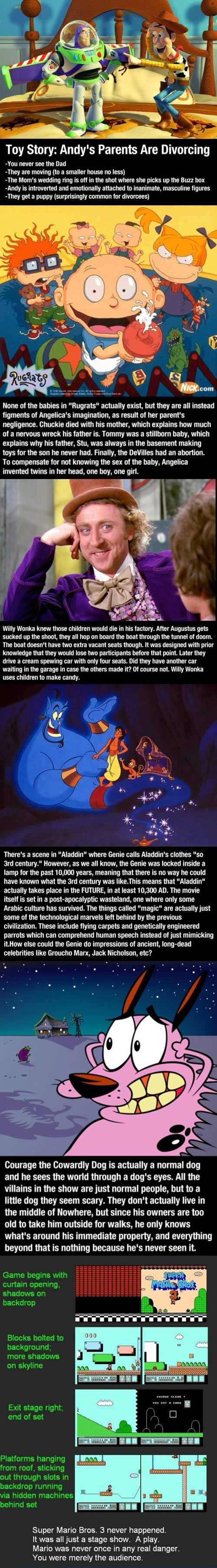 My Childhood is ruined.... Even if it isn't real. It's a pretty ...