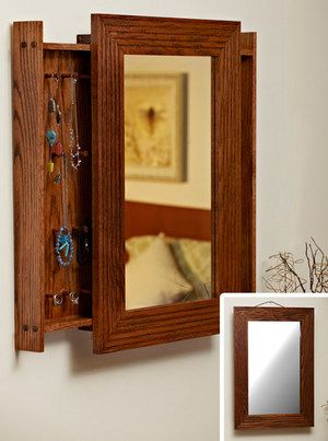 Mirror Jewelry Cabinet Plans - WoodWorking Projects & Plans