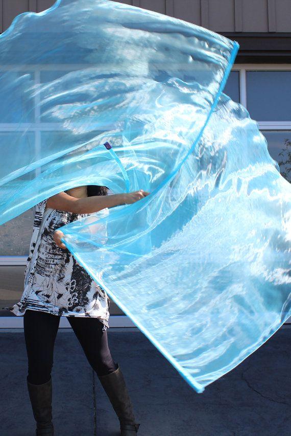 O.Z. pura  Aqua juego de 2 culto danza alabanza banderas