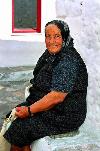 Woman sitting, Sifnos island