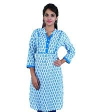 Product details : http://www.sirnmaam.com/women/clothing/kurtis-ladies/blue-cotton-kurti-snm-2009/