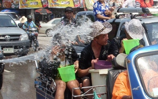 Songkran, Thailand's traditional New Year water-throwing festival
