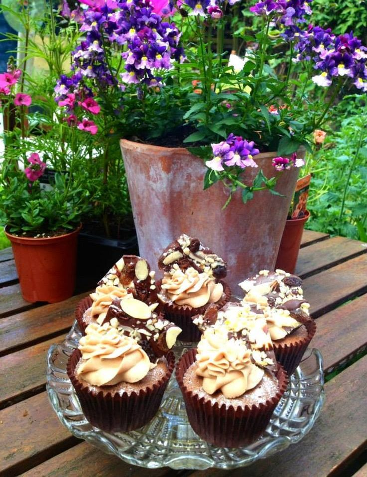 Fruit and Nut Brittle Cupcakes.