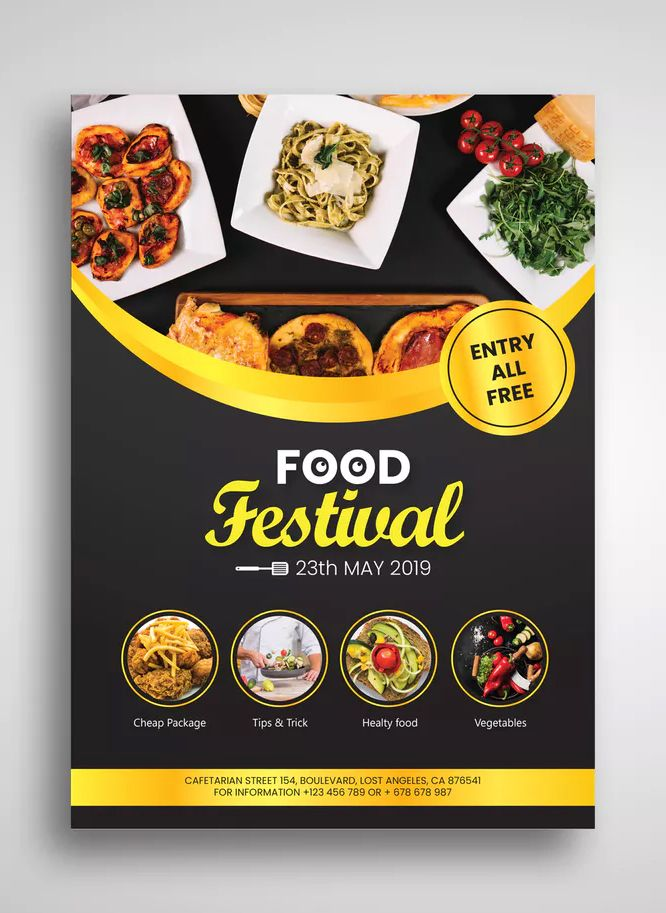 Food Festival Flyer By Uicreativenet On Envato Elements Food Festival Poster Food Poster Design Food Festival