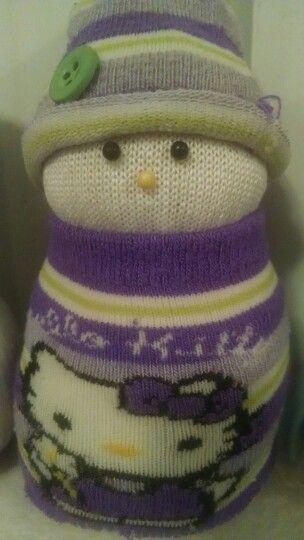 Hello kitty sock snowman | crafts | Pinterest | Sock Snowman, Hello ...