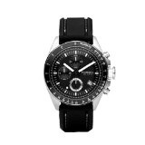 Fossil Men's CH2573 Black silicon Strap Black Analog Dial Chronograph Watch (Watch)By Fossil