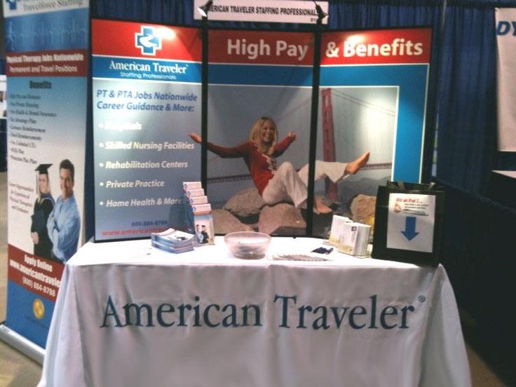Booth at the cpta convention nursing career fair pinterest