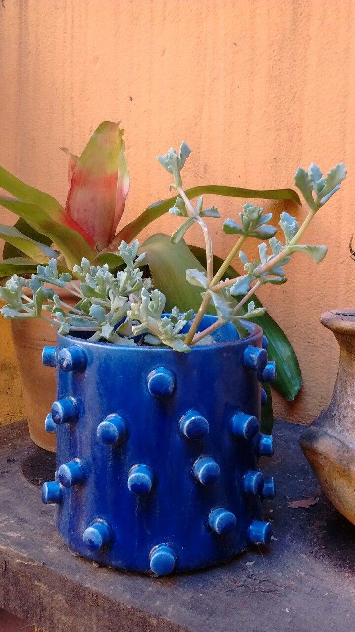 Maceta de cerámica. Esmaltado
