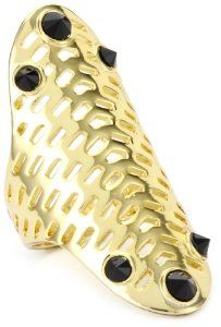 House of Harlow 1960 14k Gold-Plated Geometric Jet Gold Pave Ring Size, Size 6 House of Harlow 1960. $54.00