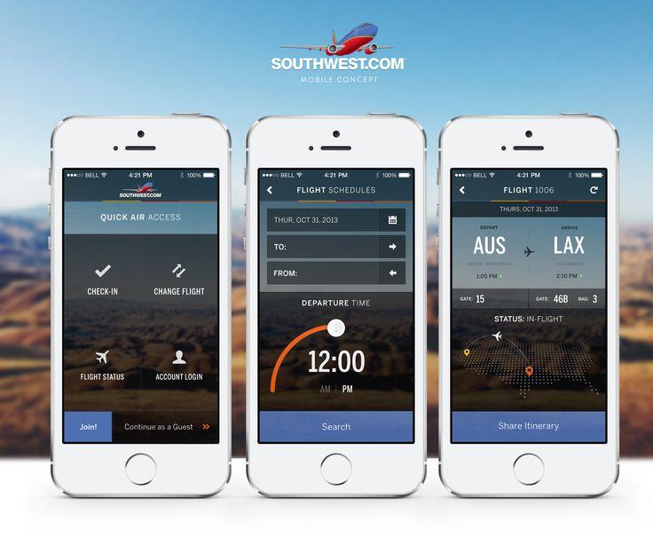funsize_soutwestairlines_concept mobile app templatesmobile designapp