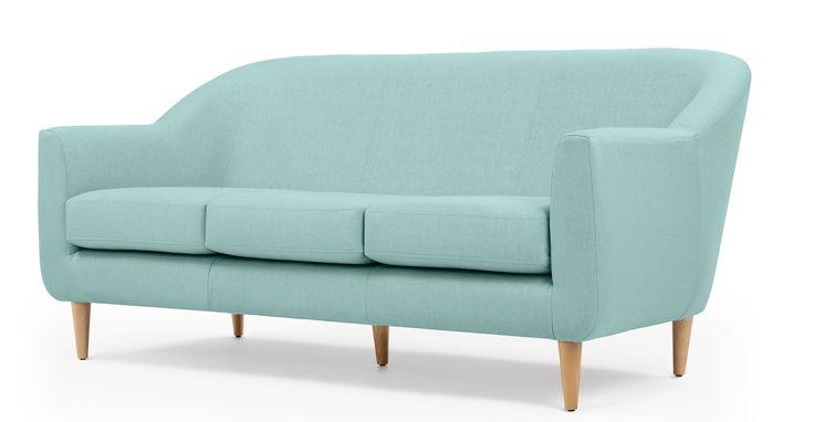 Tubby, canapé 3 places, bleu turquoise
