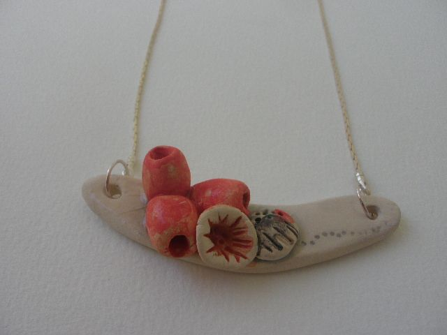 "Anna Chronaki. Short ceramic neckless, from the "" Reef"" line"