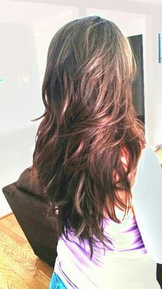 nice haircut for long hair with layers back view - Google Search...