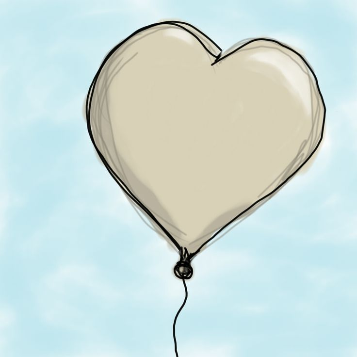 """#IllustrationFriday week of Jan.16-23, theme: """"Toy"""". A heart-shaped toy balloon."""