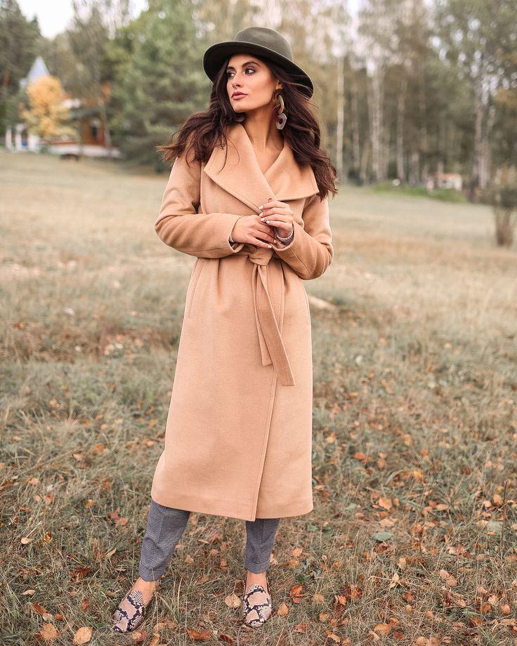 бежевое пальто, пальто бежевое женское, с чем носить ...