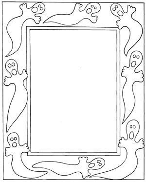 christmas picture frames coloring pages - photo#15