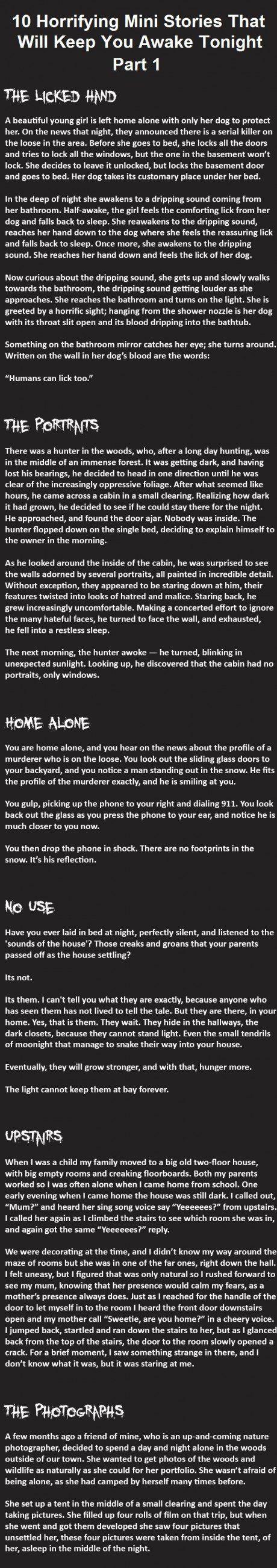 More horrifying stories