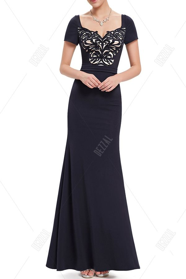 Sweetheart Neck Sequin Evening Dress