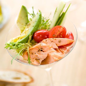 A heart healthy starter for two, this Salmon Martini is sophisticated and delicious. Ready to impress? This will get things off on the right foot.