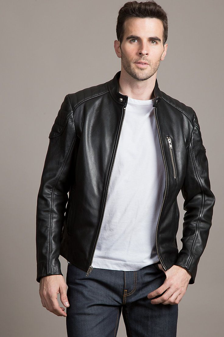 The Soto Jacket Surrounds You In Rugged Full Grain Cowhide Leather That Protects You With Warmt Mens Fashion Rugged Leather Jacket Men Mens Fashion Inspiration