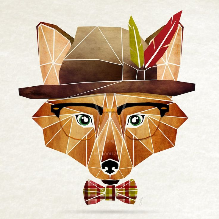 """Hipster Animals"" – Geometric Illustrations Inspired by Tangram Puzzles"