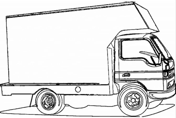 Pickup Truck Damage Inspection Sheet Sketch Coloring Page