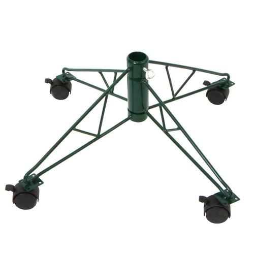 """29"""""""" Green Rolling Tree Stand for 8' - 9.5' Artificial Trees"""