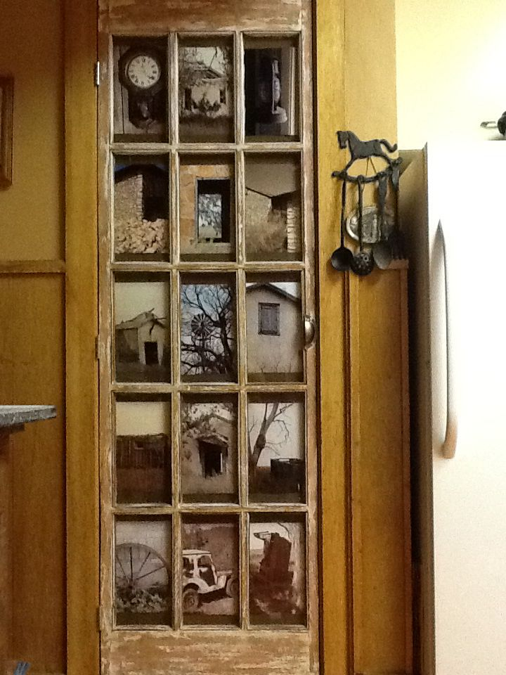 Repurposed Glass Panel Door Picture Frame Old Door