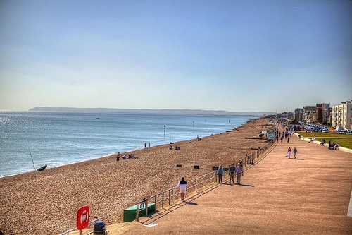 Beach and shore, Bexhill-on-Sea (Bexhill), East-Sussex, Sussex, United Kingdom