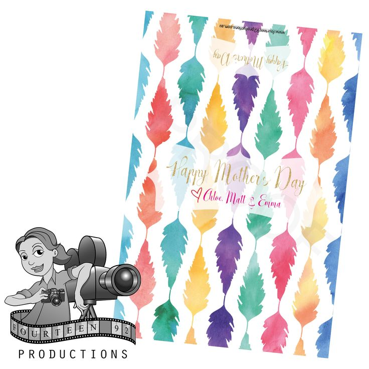 Mother's Day Watercolour Feathers Chocolate Wrappers by fourteen92prod on Etsy https://www.etsy.com/au/listing/503133656/mothers-day-watercolour-feathers