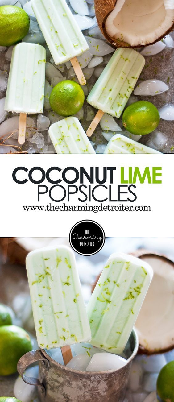 Not only do they have a beautiful color, but these creamy popsicles will rock your world with coconut lime flavor all this summer!