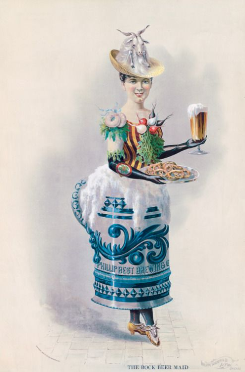 The Bock Beer maid