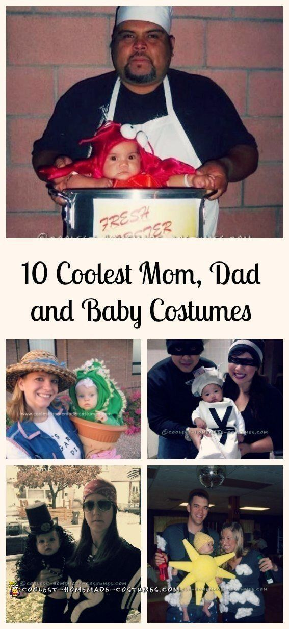 Top 10 DIY Mom, Dad and Baby Costume Ideas for Halloween Baby - diy infant halloween costume ideas