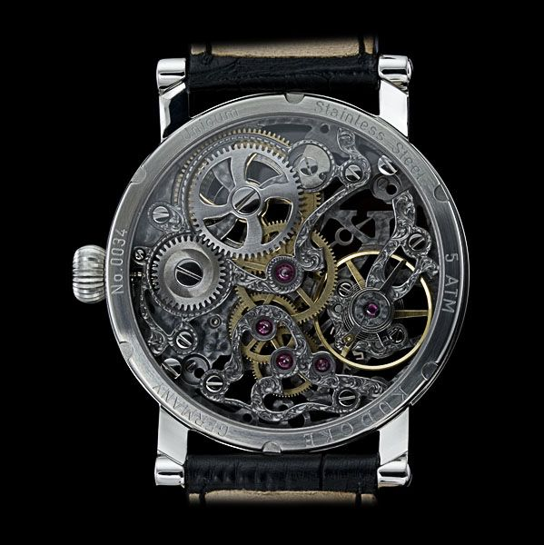 Black Beauty - KUDOKE - The Master of Skeleton Watches - Independent Watchmaker - Handmade in Germany