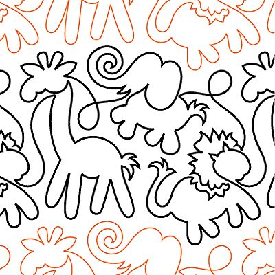Animal Stencils For Quilting : Animal Crackers - Digital - Quilts Complete - Continuous Line Quilting Patterns Quilts ...