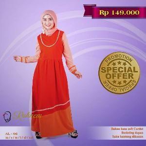 Baju Muslim Wanita Gamis Rahnem Limited Model RL-06  - SALE