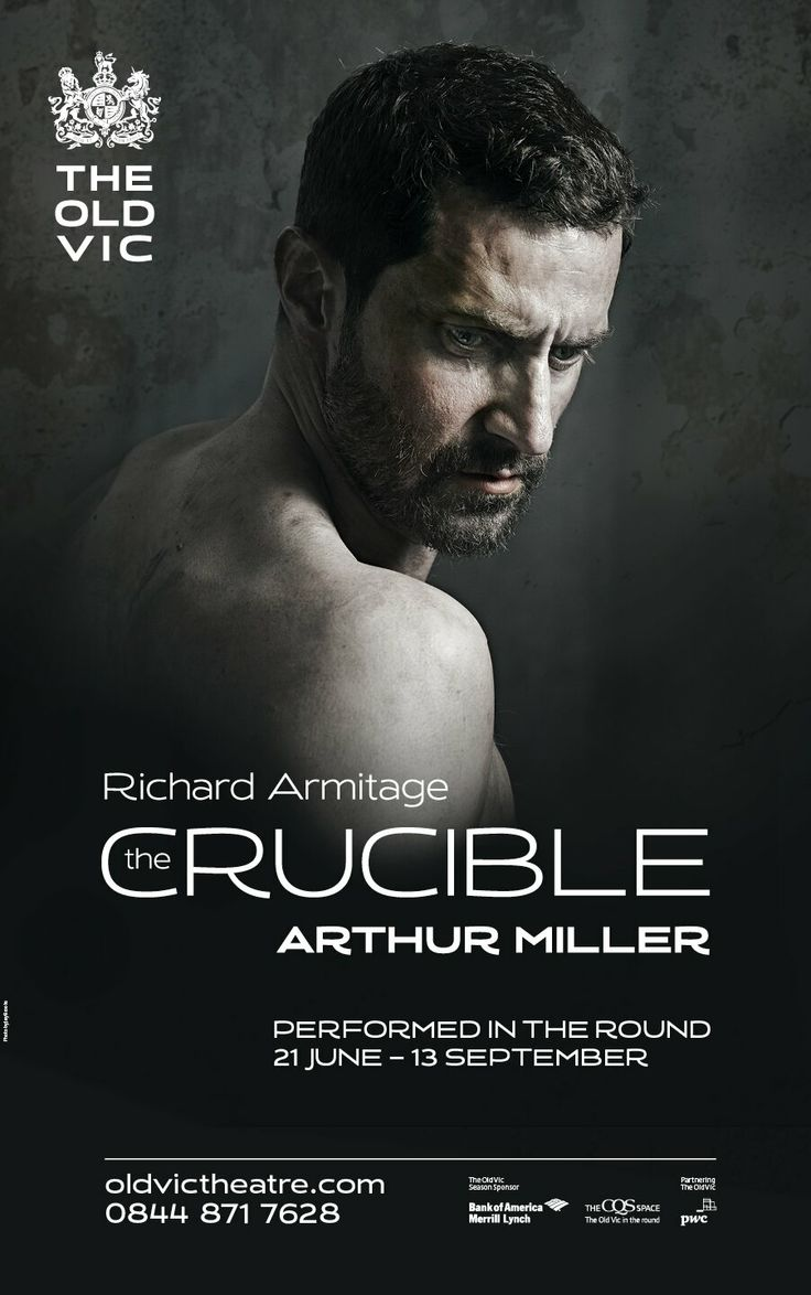 Twitter / oldvictheatre: The Crucible starring Richard Armitage - 3
