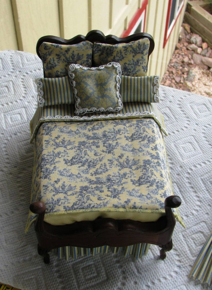 Dollhouse Miniature Victorian UPHOLSTERY FABRIC Blue on Butter Toile SILK Cotton 1/12th by SydneyStyle on Etsy https://www.etsy.com/listing/189234417/dollhouse-miniature-victorian-upholstery