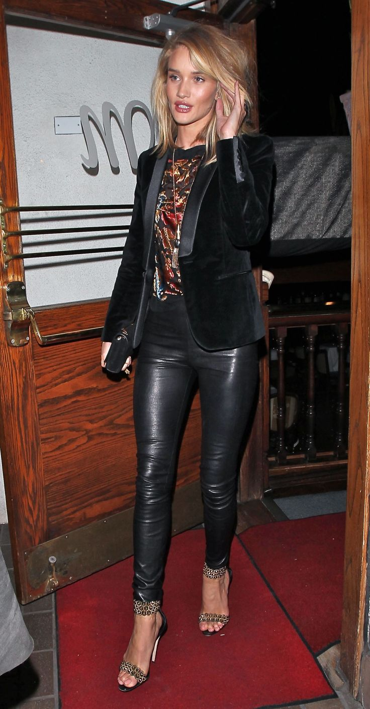 Rosie Huntington-Whiteley leaves Madeo restaurant in Beverly Hills, Calif., on March 4, 2015.