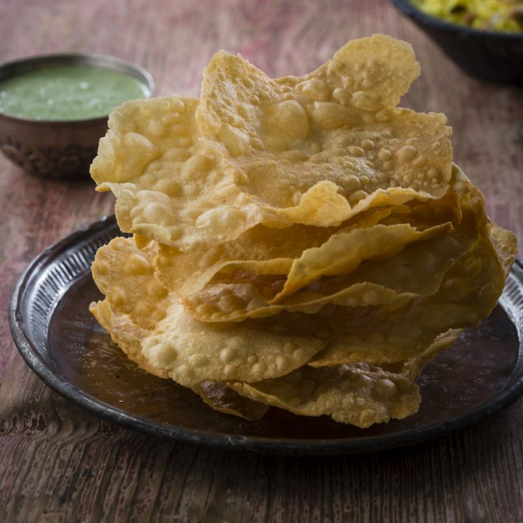 "Thermomix | Pappadums with mint and coriander chutney | Entertaining with Dani Valent cookbook + recipe chip | ""Indian"" menu plan 