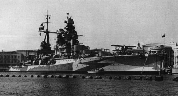 "Italian heavy cruiser ""Gorizi"" of the Zara class. #50A"