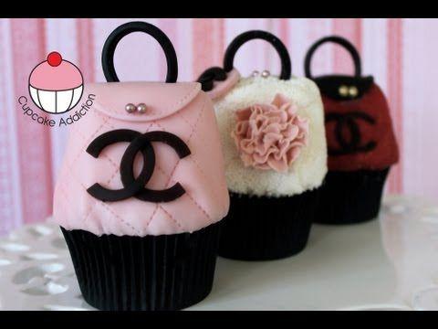 Purse Cupcakes!! Make CHANEL Handbag Cupcakes! -- A Cupcake Addiction How To Decorating Tutorial - YouTube