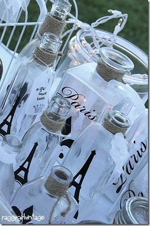 DIY French Decor Bottles