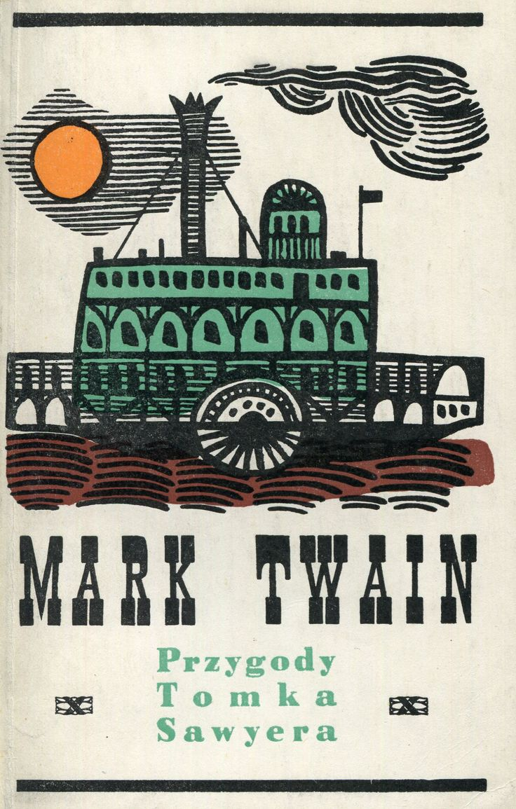 Polish Edition of The Adventures of Tom Sawyer.  Cover by Jan Lenica. Published by Wydawnictwo Iskry, 1961