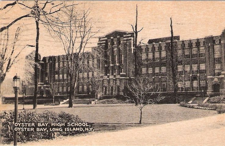 RPPC N. Y. Oyster Bay High School Osyter Bay, Long Island N. Y. Postcard