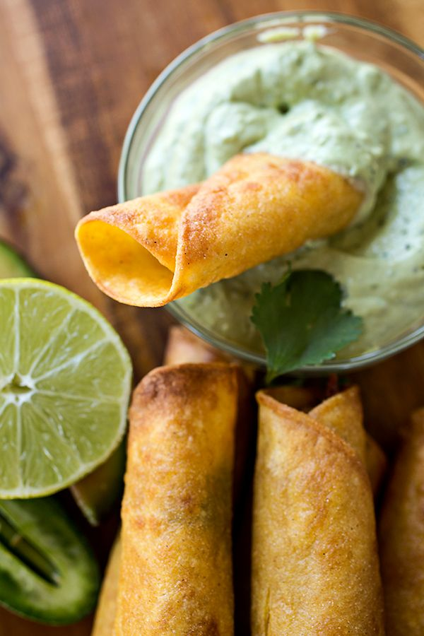 Zesty Chili-Lime Chicken Taquitos
