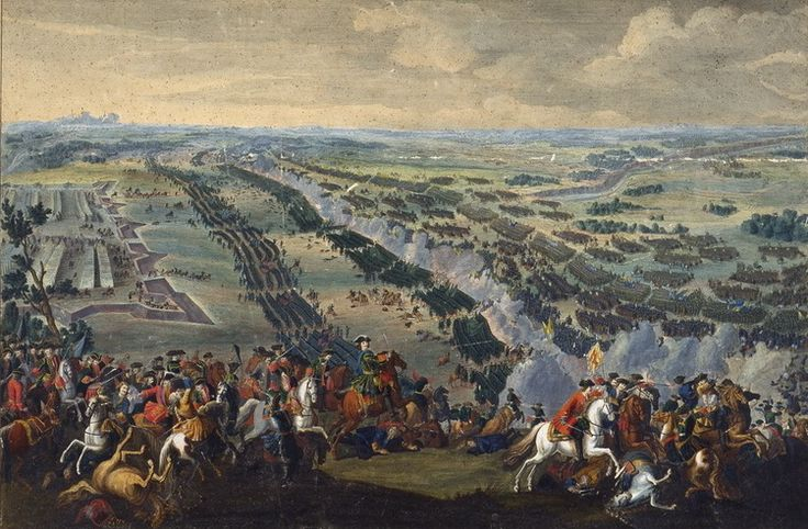The Battle of Poltava by Denis Martens the Younger, painted 1726