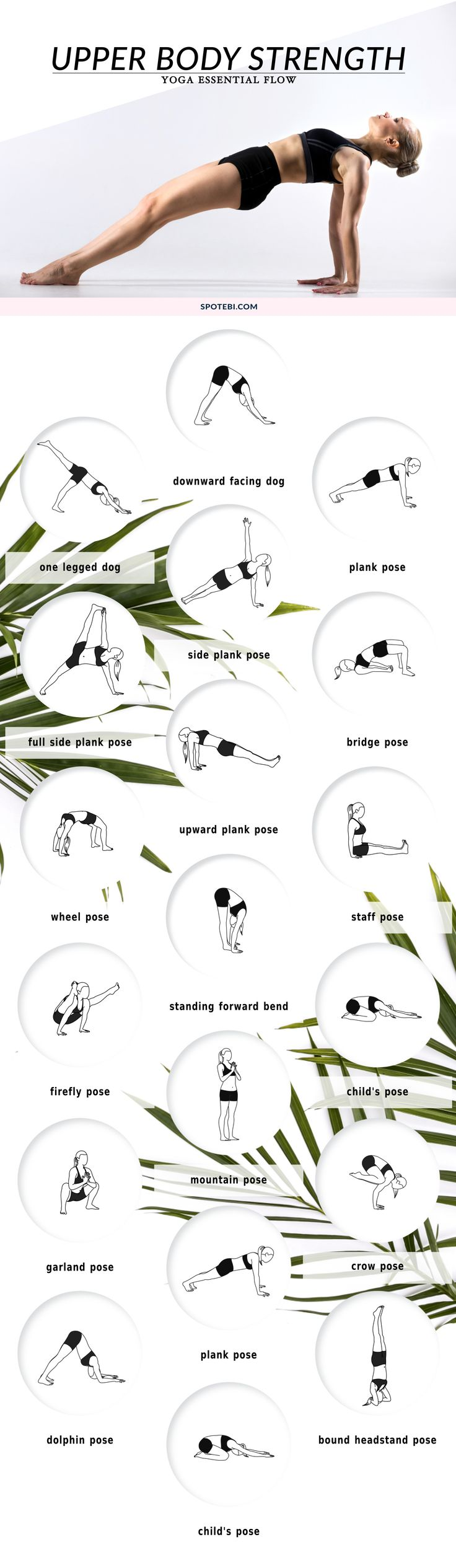 Build strength in the shoulders, arms, chest, and upper back and improve your flexibility with this upper body strengthening yoga flow. Breathe deeply, keep your body balanced and engage your core for stability as you move through these challenging poses.
